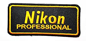 Nikon Dslr Digital Camera Photographer DIY Embroidered Sew Iron on Patchhat Jacket Hoodie Backpack Ideal for Gift/ 9.5cm(w) X 4.2cm(h)