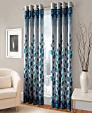 Roseate Pearl 2 Piece Eyelet Polyester Window and Long Door Curtain- 7ft