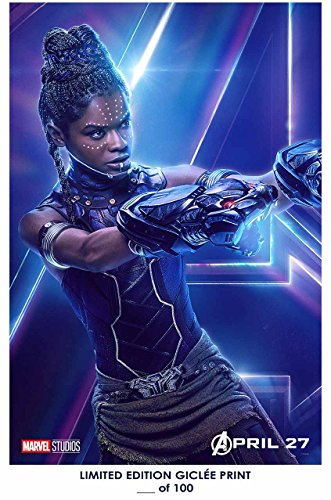 Lost Posters RARE POSTER thick SHURI the avengers: infinity war 2018 letitia wright REPRINT #'d/100!! 12x18