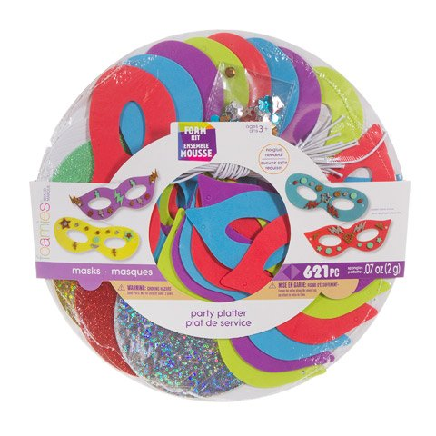 Foamies Foam Party Mask Craft Kit Makes - Party Kit Craft
