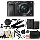 Sony Alpha a6000 Mirrorless Digitial Camera 24.3MP SLR Camera with 3.0-Inch LCD (Black) (16-50mm, Basic Kit)
