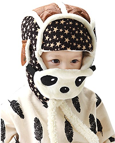 Summer Fairy Mask (Unisex Baby Panda Hats Masks Overall Stars Winter Crash Helmet Coffee)