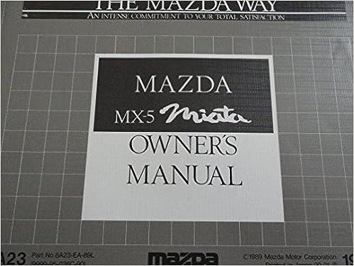 1990 miata owners manual