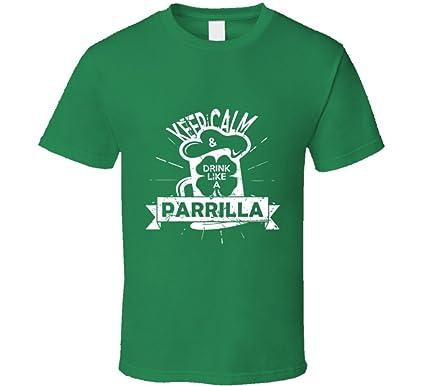 Amazon.com: SHAMBLES TEES Keep Calm Drink Like a Parrilla ST ...
