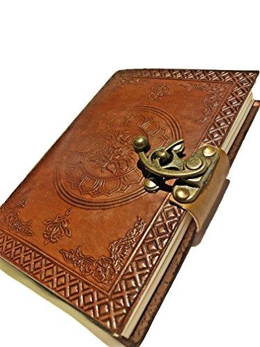 Leather Saddler Travel Journal, Handmade Vintage Notebook, Antique Soft Leather, Gift for Men & Women,Travelers Journal, Small Leather Notebook, With C Lock 7 Inches, - Jornal Mens