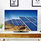 Analisahome Front Flip Top Solar Panels Against Blue Sky Front Flip Top W36 x H60 INCH/TV 65''