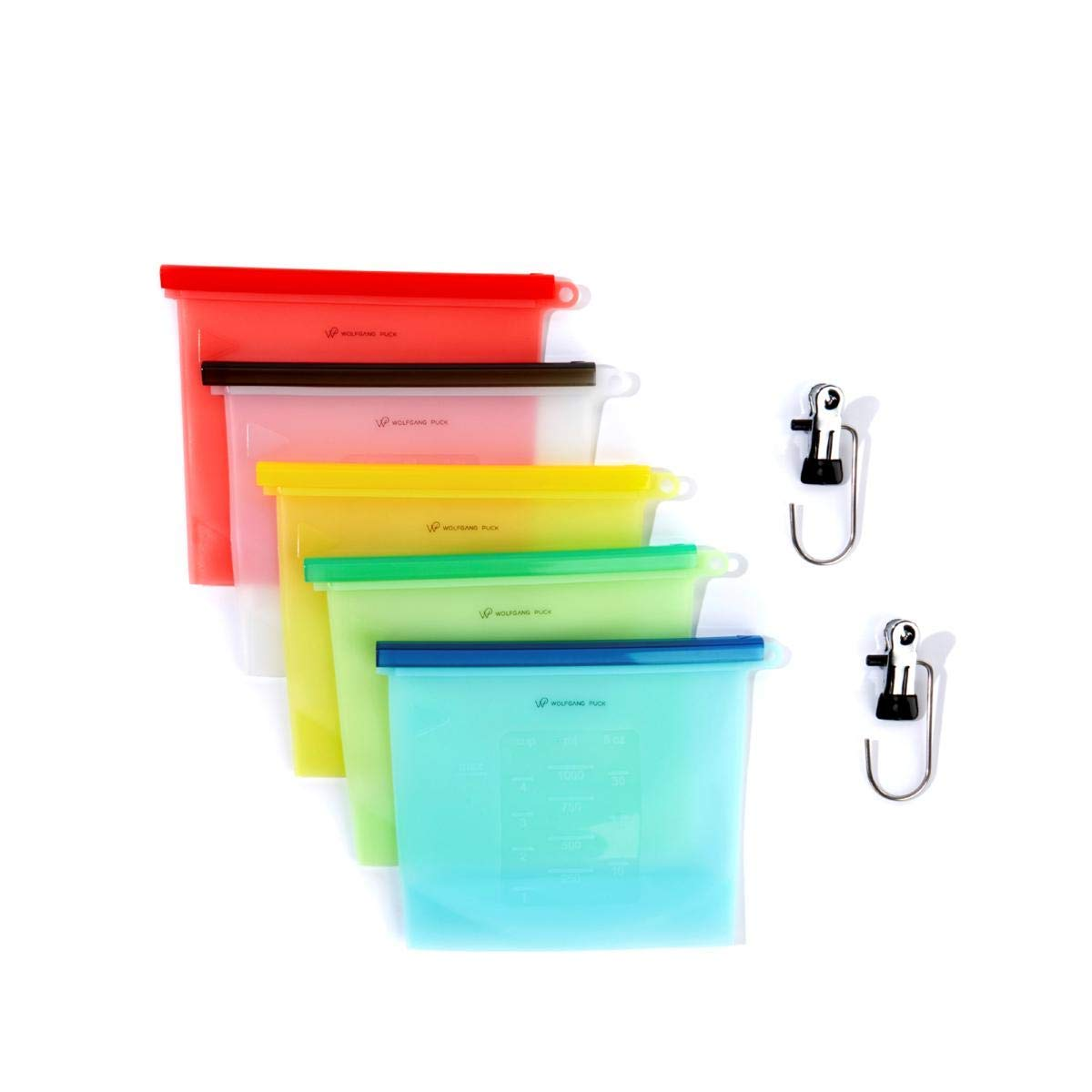 Wolfgang Puck Silicone Bag and Clip 7-piece Set Model 618-508 (Renewed)