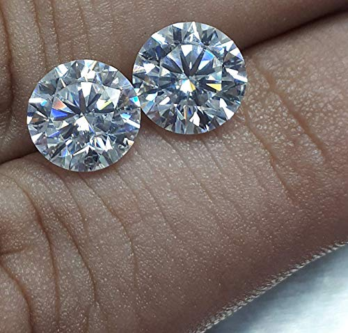 Vs2 Lab - (Certified D-E Color, VS1-VS2 Clarity) Jewelry By Bruno 1.05 Carat Lab Grown Diamond Stud Earrings Set in 14k White Gold