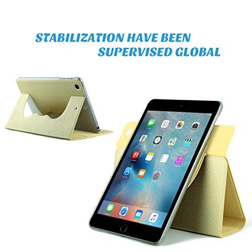 iPad Mini 3 Case,iPad Mini Case,ULAK Ultra Slim 360 Rotating Smart Stand Case Cover for Apple iPad Mini 1/ iPad Mini 2/ iPad Mini 3 with Sleep/Wake Feature (Champagne Gold) Photo #8