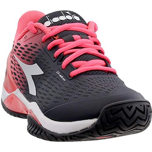 Duratech Flat - Diadora Womens Speed Blushield 2 AG Tennis Athletic Black;Pink 8.5