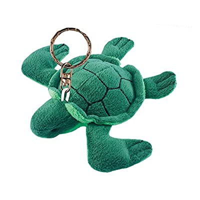Puzzled Sea Turtle Plush Keychain: Toys & Games