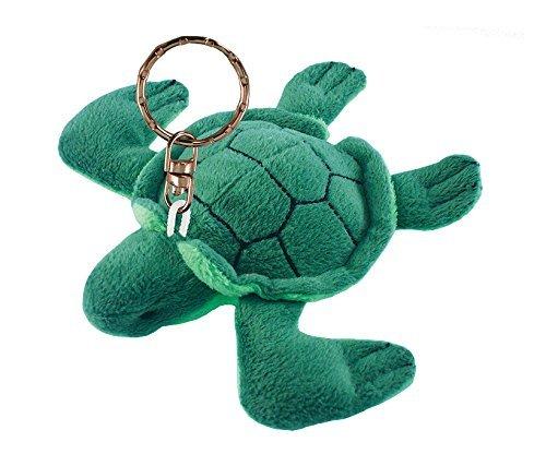 Puzzled Sea Turtle Plush Keychain