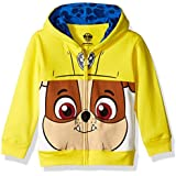 Nickelodeon Toddler Boys' Paw Patrol Character Big Face Zip-Up Hoodies, Rubble Yellow, 5T