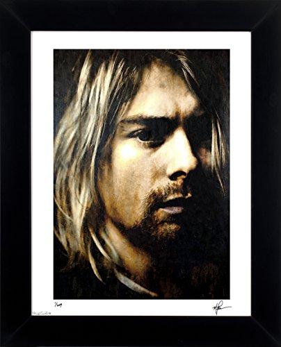 Kurt Cobain art print abstract modern artwork signed framed – 21 x 25 Wall Art ADF