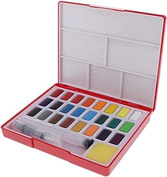 Sharplace 24 Colores Estuche Acuarelas, Multicolor Pinturas a Base de Agua para Escribir/Dibujar/Colorear: Amazon.es: Bricolaje y herramientas