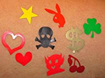 Mixed Tanning Tattoos Tanning Sticker Tantoos Assorted Heart, Lips, etc. Pack of 200