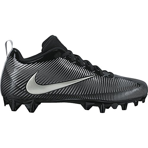 NIKE Men's Vapor Strike 5 TD Football Cleat Black/Metallic Silver Size 7.5 M US by NIKE