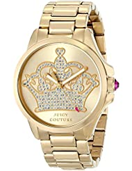 Juicy Couture Womens 1901149 Jetsetter Analog Display Quartz Gold Watch