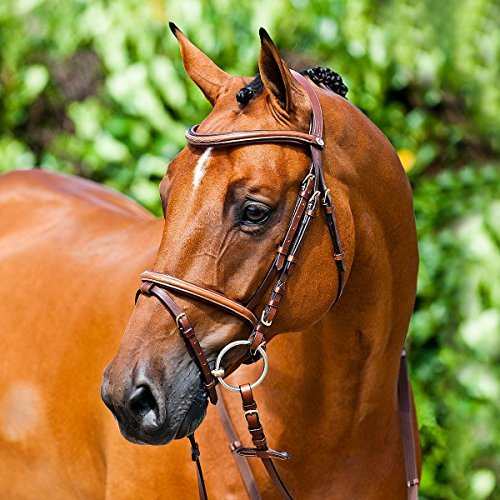 Horze Constance Snaffle Bridle - Light Brown - Full
