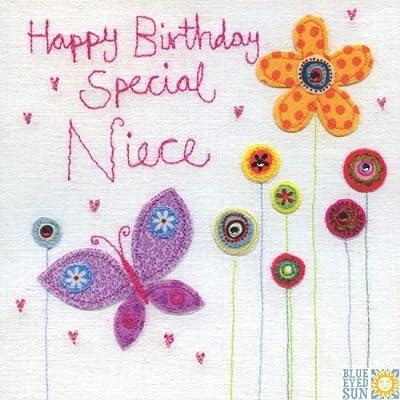 Happy Birthday Special Sobrina Calidad Relieve Tarjeta De