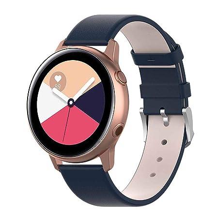 Kompatibel Samsung Galaxy Watch Active Armband, 20 Mm Galaxy Watch Active Zubehör Ersatz Handgelenkgurt Premium Leder Passfor