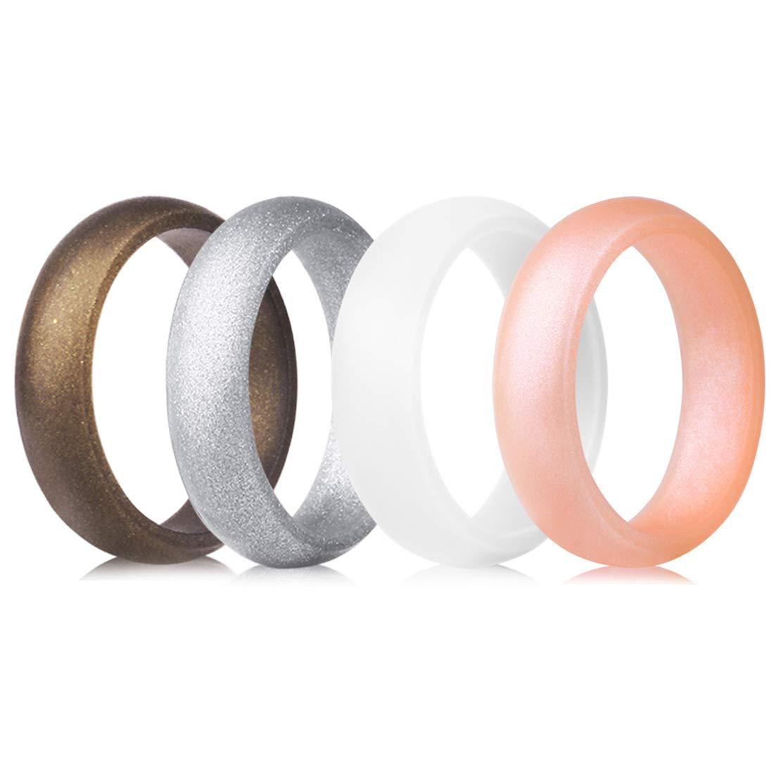 QVOW B07M85R63R シリコンリング レディース 薄手 (15.7mm)|B7: 手頃 積み重ね可能 Copper, ゴム結婚指輪 7 4 3パック シングルサイズ 幅3.0mm 5.7mm B07M85R63R B7: Metal Copper, Bright Silver, White, Rose Gold - 5.0mm 4.5-5 (15.7mm) 4.5-5 (15.7mm)|B7: Metal Copper, Bright Silver, White, Rose Gold - 5.0mm, 梅崎陶土:22ec1cf7 --- krianta.com
