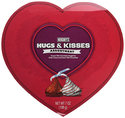 Hershey's Hugs & Kisses Assortment Valentine Heart 7 Oz.