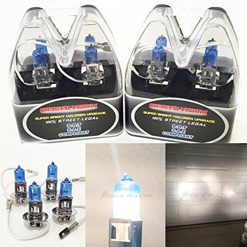Mx Combo Box (M-Box Combo 2 Pair H3 (Fog Light Headlight) 55W White 5000K Halogen Lamp Bulb Factory Stock OEM Replace Auto US Seller)