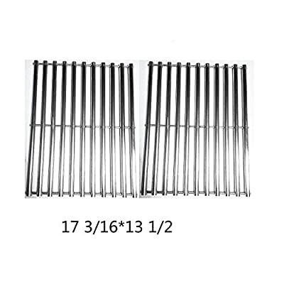Zljoint Stainless Steel Cladding Rod Cooking Grates / Cooking Grid Replacement Fit Brinkmann, Grill Master, Nexgrill and Uniflame Gas Grills and Others, Set of 2