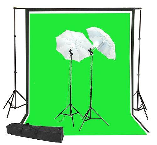 ephtoto写真ビデオ写真照明キット、6 ' x 9 ' Chromakey Chroma keyグリーン画面システムuls69   B003IPVVBQ