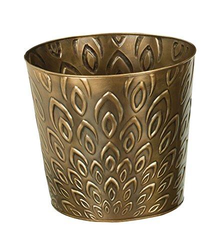 (Regal Art & Gift Bronze Lotus Tapered Planter,)