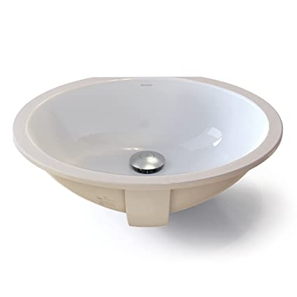 DECOLAV 1401 CWH Carlyn️ Classically Redefined Oval Vitreous China  Undermount Lavatory Sink With Overflow,