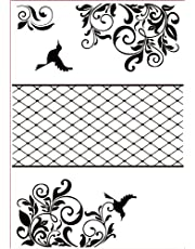 Darice Triptych Embossing Template Frame, Transparent, A4
