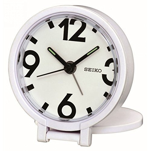 Seiko Qht011W Travel Alarm Clock, White