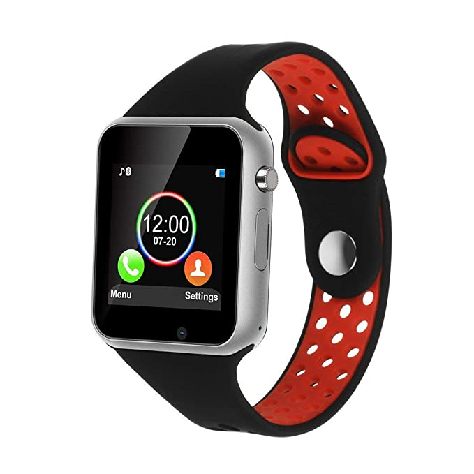 Smart Watch,SUNETLINK Touch Screen Bluetooth Smart Watch,Sport Smart Fitness Tracker Wrist Watch with Camera,Sweatproof Smart Watch with SIM TF Card ...