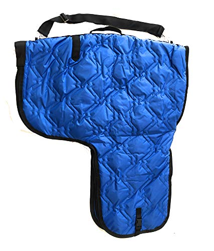 AJ Tack Wholesale Western Horse Saddle Carrier Cover Bag Large Poly Fill Padded Royal Blue