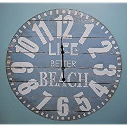 23 Life is BETTER AT THE BEACH Wall Clock