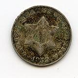 1852 Three Cents Silver VF-25