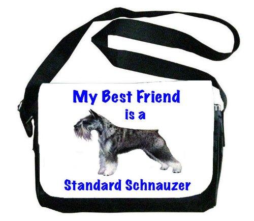 My Best Friend is standard schnauzerメッセンジャーバッグ B00EXC1MR6