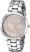 Anne Klein Women's AK/2819PMSV Swarovski Crystal Accented Silver-Tone Bracelet Watch