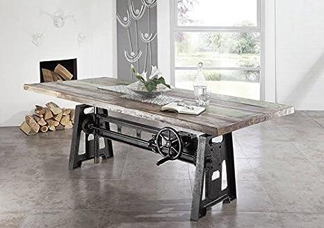 Mobili In Legno E Ferro : Legno massello legno antico ferro laccato tavolo da pranzo