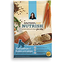 Rachael Ray Nutrish Natural Dry Cat Food, Salmon & Brown Rice Recipe, 14 lbs