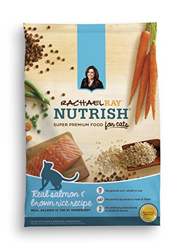 Rachael Ray Nutrish Natural Dry Cat Food, Salmon & Brown Ric