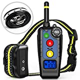 [Newest 2019] Dog Training Collar with Remote | Dog Shock Collar Rechargeable | Electronic Bark Collar 3 Training Modes | Long Range 2000FT & IPX7 Waterproof | E-Collar for Small, Medium, Large Dogs