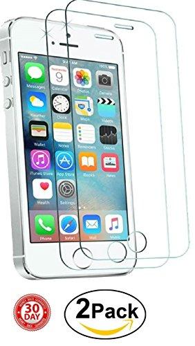 [Confezione da 2] iPhone 55S SE Crystal Clear protezione dello schermo in vetro temperato