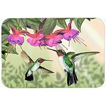"delicate Caroline's Treasures PTW2053CMT Garden Gazebo Hummingbird Duo Kitchen or Bath Mat, 20 by 30"", Multicolor"