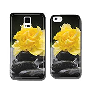flower on black pebbles cell phone cover case iPhone6 Plus