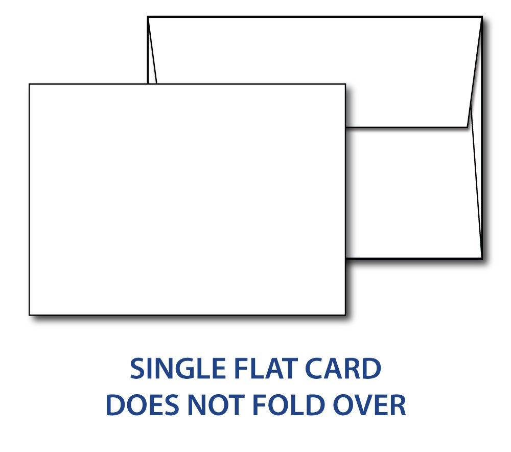 Heavyweight Blank White 5'' X 7'' Cards with Envelopes - 100 Cards & Envelopes