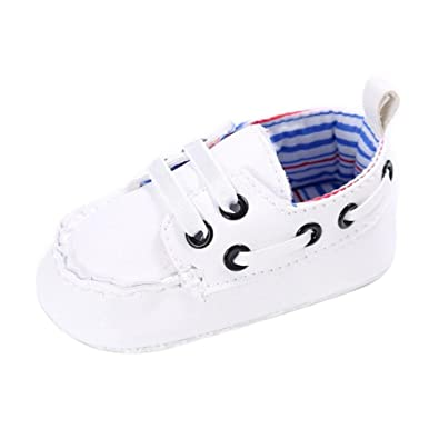 baec8d7bc21 erthome Baby Shoes Boy Girl Newborn Artificial Leather Crib Soft Sole Shoe  Sneakers (0~