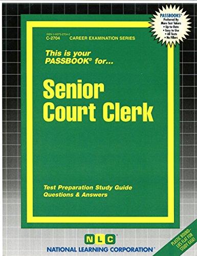 Senior Court Clerk(Passbooks)